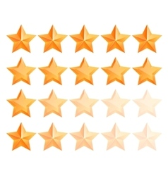Golden 3d star premium set the best reward vector