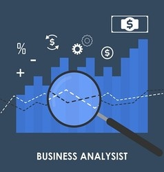 Abstract of business analysis vector