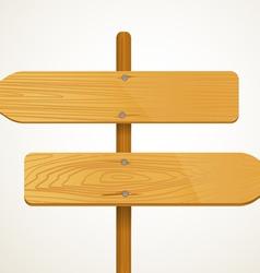 Blank wood arrow boarders vector