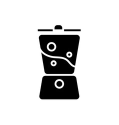 blender smoothie icon black vector image