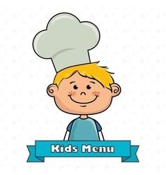 Boy kids menu food vector