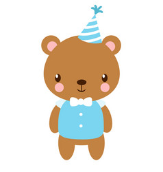 Cute bear in the cap vector
