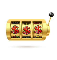 dollars jackpot on gold slot machine vector image vector image