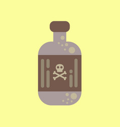 flat icon stylish background potion in bottle vector image vector image