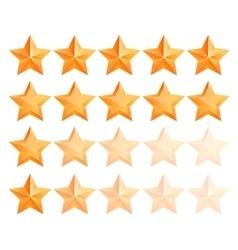 Golden 3d star premium set the best reward vector