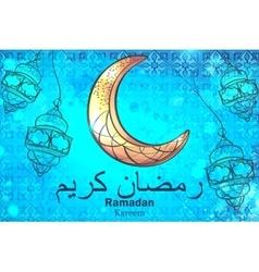 Greetings background ramadan kareem vector