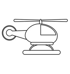 Helicopter transport commercial outline vector