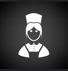 Hotel maid icon vector