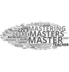 Mastering word cloud concept vector
