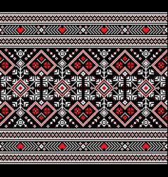 Of ukrainian folk seamless pattern vector