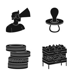 Pears trade shop and other web icon in black vector
