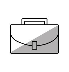 Portfolio suitcase business shadow vector