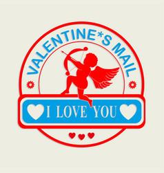 Print c valentine s day vector