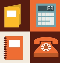 retro icon design vector image vector image