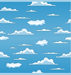 Seamless clouds background vector