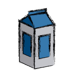 tetrapak milk box vector image vector image