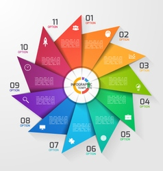 Windmill style infographic template 11 options vector