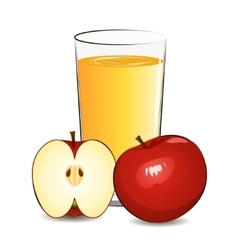 fresh apple juice vector image