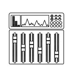 Audio console professional icon vector
