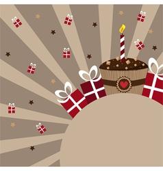 Birthday card chocolate vector