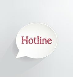 Hotline vector