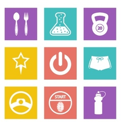 Color icons for web design set 41 vector