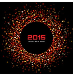 Red bright new year 2015 background vector