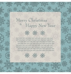Christmas card with tree and snowflakes vector