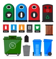 Garbage containers vector