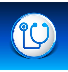 Stethoscope icon on isolated background vector