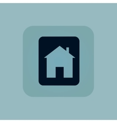 Pale blue house sign icon vector