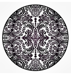 Floral round lace ornament mandala vector