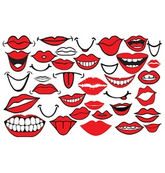 Cartoon mouths vector image