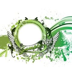grunge green background vector image