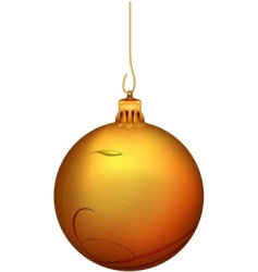 Gold christmas ball vector