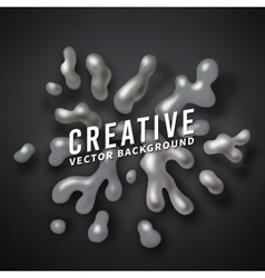Abstract color splash background paint vector image