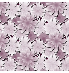 Abstract floral background Flowers fabric vector image vector image