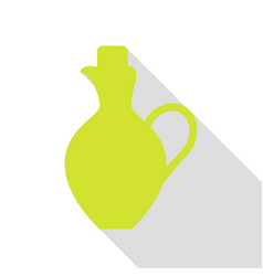 Amphora sign pear icon with flat vector