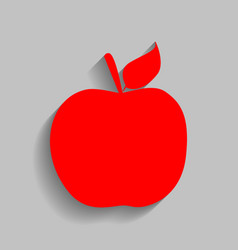 Apple sign red icon with vector
