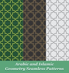 Arabic and islamic geometry seamless patterns vector