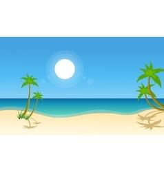 beach scenery vector image vector image