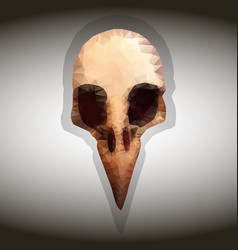 Bird s skull drawing in the style of vector