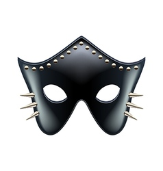 Black leather eyes mask isolated vector