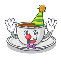 clown coffee character cartoon style vector image