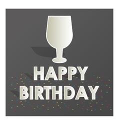 Cup happy birthday design vector