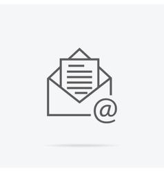 Envelope Open Design Flat vector image vector image