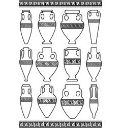 greek meander ornament vector image
