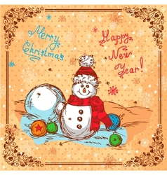 hand drawn new year background vector image vector image