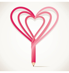 heart shape pencil stock vector image