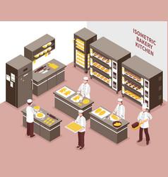 Isometric bakery vector